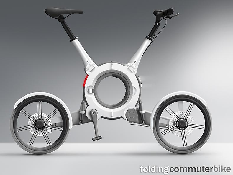 Concept Design | Illustration For Folding Bike Design Concept