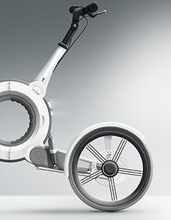 Illustration for folding bike design concept